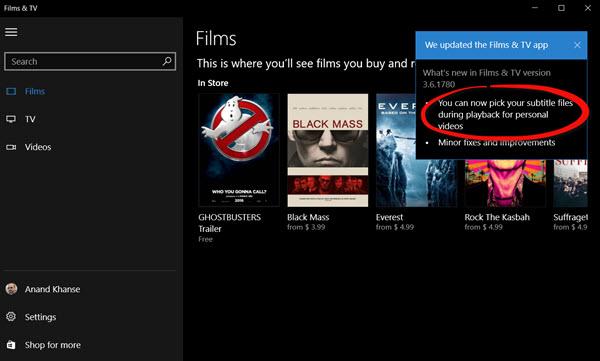 Externe Untertitel in Filme laden & TV-App von Windows 10 ...