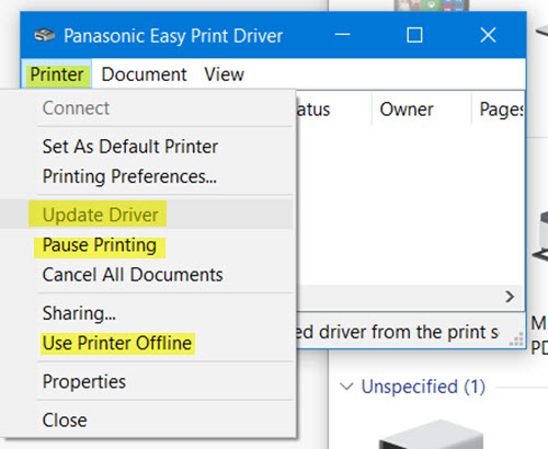 Drucker Ständig Offline